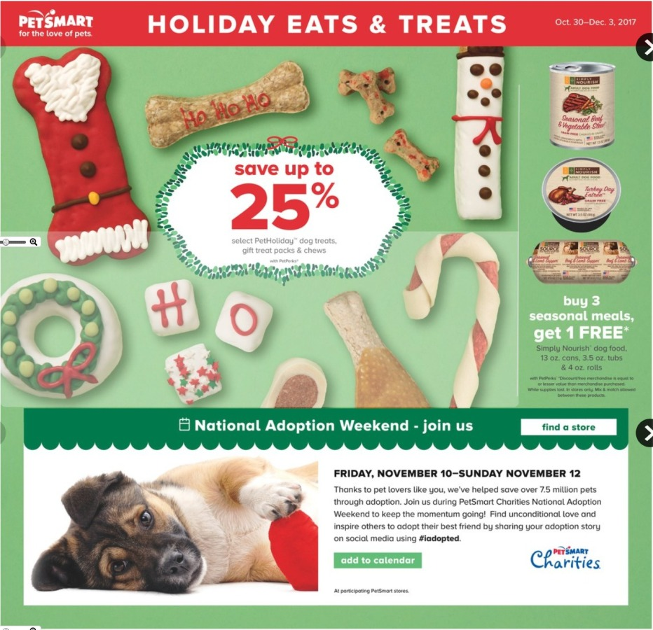 Petsmart Holiday Catalog page 1